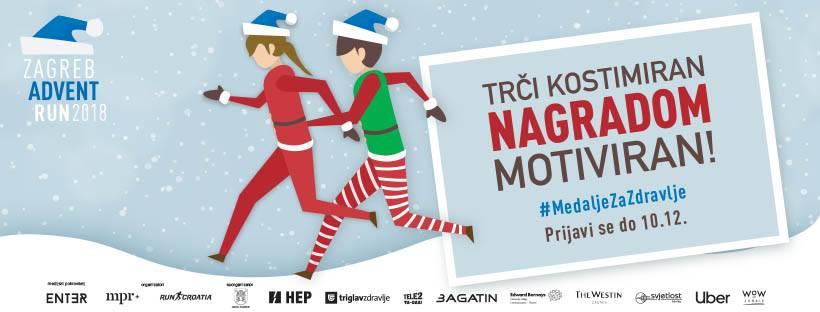 16.12. Zagreb Advent Run (5km, 10km, Nordic Walking)