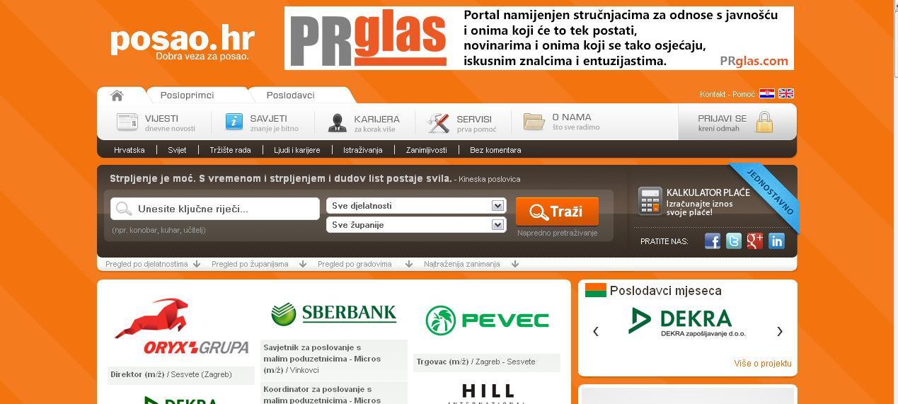 banner na portalu posao.hr