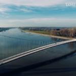 1. Grad Osijek i rijeka Drava / Na taj dan bila je predivno plava. Nebo u Dravi.