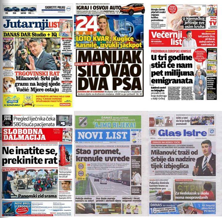 petak 25.09.2015. Hrvatska