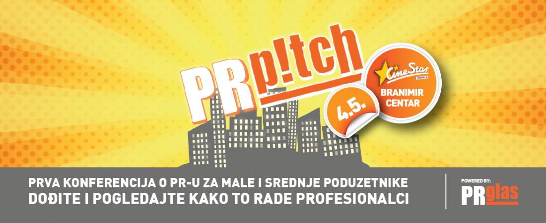 PRglas organizira prvu konferenciju o PR-u za male i srednje poduzetnike – PR Pitch –