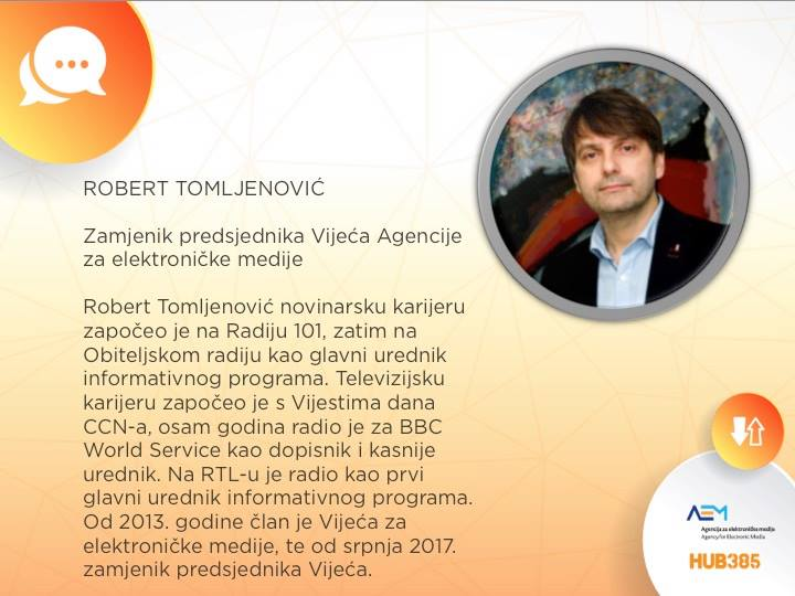 Robert Tomljenović iz Agencije za elektroničke medije!