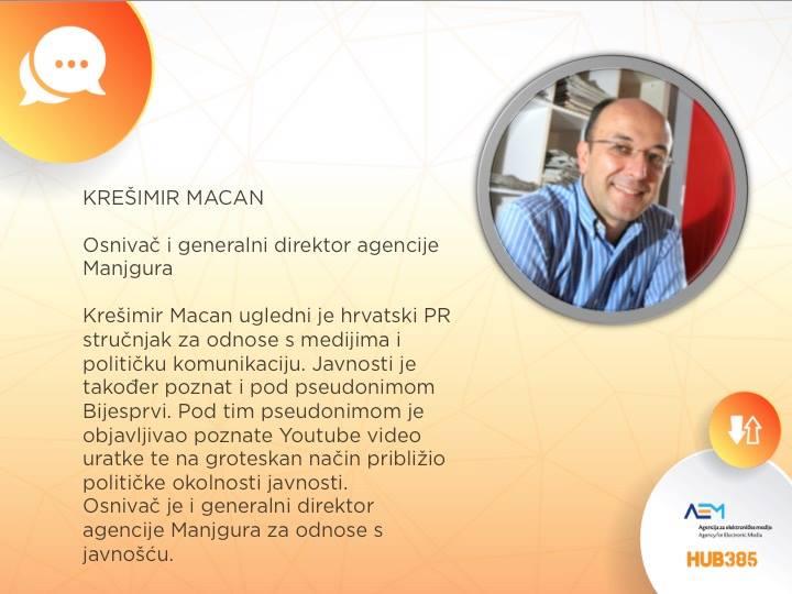 panelist je Krešimir Macan iz Manjgure!