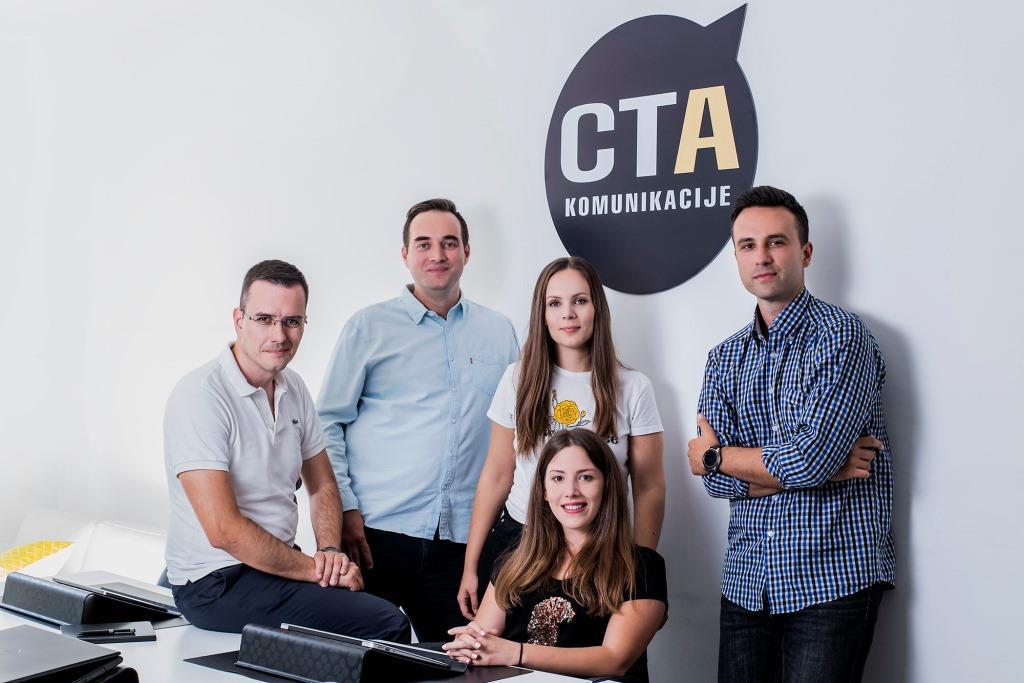 Tim CTA komunikacija_s lijeva na desno_Petar Tanta, Gordan Turković, Valentina Mezdić, Eli Čerkezović, Velimir Hlupić