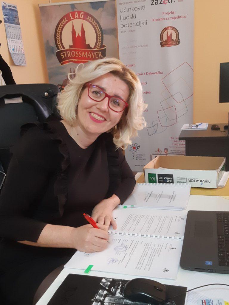 Božana Kovačić - predsjednica LAG-a Stross.